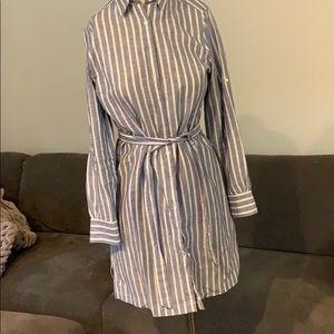 NWOT Brooks Brothers striped chambray dress